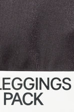 Coated leggings - Black - Ladies | H&M CN 4