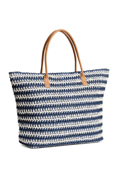Shopper - Blue/Striped - Ladies | H&M GB