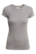 T-shirt a costine - Grigio - DONNA | H&M IT 3