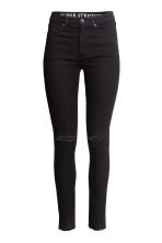 Skinny High Ripped Jeans - Black - Ladies | H&M 3
