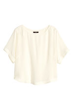 Top in tessuto - Bianco naturale - DONNA | H&M IT 2