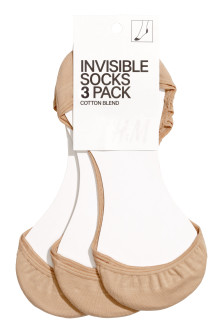 3-pack invisible socks