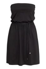 Strapless jersey dress - Black - Ladies | H&M CN 3