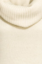 Polo-neck jumper - Natural white marl - Ladies | H&M CA 3