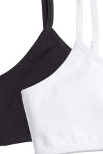 2-pack crop tops - Black - Kids | H&M CN 2