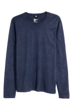Long-sleeved T-shirt Slim fit - Dark blue - Men | H&M CN 2