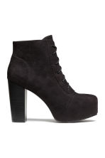 Platform boots - Black/Snakeskin patterned - Ladies | H&M CN 2
