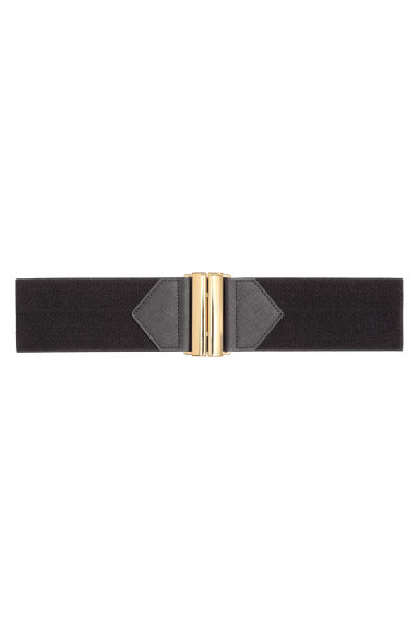 Elastic waist belt - Black - Ladies | H&M 1