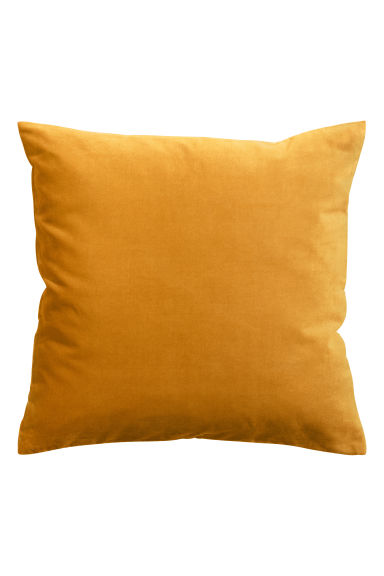 Velvet cushion cover - Mustard yellow -  | H&M GB 1