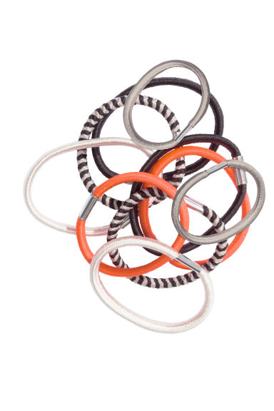 10-pack hair elastics - Orange - Ladies | H&M CN 1
