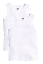 2-pack vest tops - White - Kids | H&M CN 2