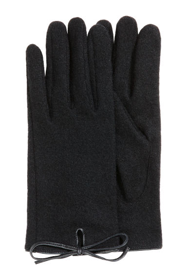 Wool-blend gloves - Black - Ladies | H&M 1