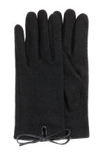 Wool-blend gloves - Black - Ladies | H&M CA 2