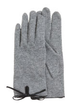 Wool-blend gloves - Grey marl - Ladies | H&M CA 2