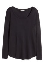Tricot T-shirt - Zwart - DAMES | H&M BE 3