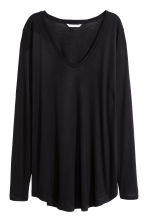 H&M+ Long-sleeved jersey top - Black - Ladies | H&M CN 2