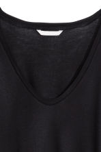 H&M+ Long-sleeved jersey top - Black - Ladies | H&M CN 3