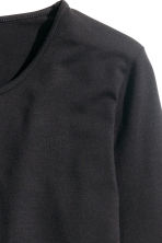 Long-sleeved jersey top - Black - Ladies | H&M 3