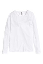 Long-sleeved jersey top - White - Ladies | H&M GB 6