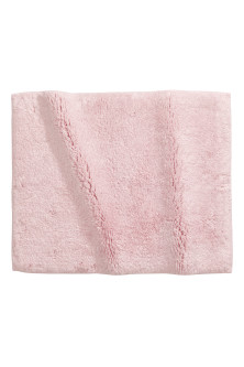 Cotton terry bath mat