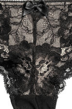 Lace half-string briefs - Black - Ladies | H&M CN 3