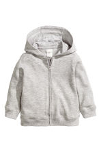 Hooded jacket - Grey marl -  | H&M CN 2