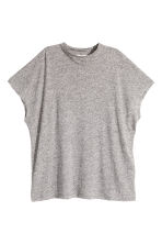 Top in a linen blend - Grey marl - Ladies | H&M CN 2