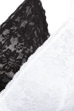 2-pack non-wired lace bras - Black/White - Ladies | H&M 4