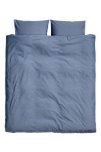 Set copripiumino in chambray - Grigio-blu - HOME | H&M IT 2