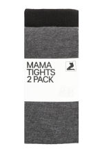 MAMA 2-pack tights - Grey/Black - Ladies | H&M 2