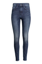 Trousers High waist - Dark denim blue/Washed - Ladies | H&M 2
