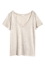 Top con scollo a V - Beige chiaro - DONNA | H&M IT 2