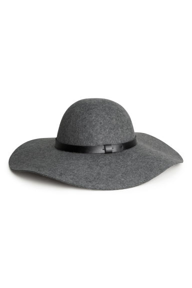Wool hat - Grey marl - Ladies | H&M GB 1