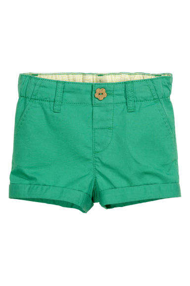 Chino shorts in cotton - Green - Kids | H&M CN 1