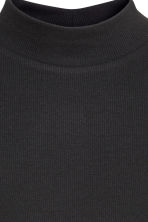 Short polo-neck top - Black - Ladies | H&M GB 4