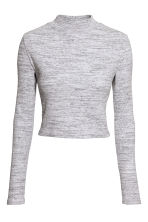 Short polo-neck top - Grey marl - Ladies | H&M CN 3