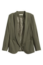 Crêpe jacket - Khaki green - Ladies | H&M CN 1