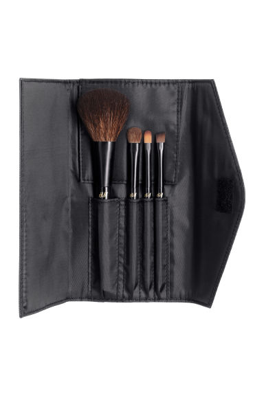 Travel kit make-up brushes - Black - Ladies | H&M CA 1