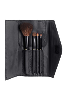 Travel kit make-up brushes