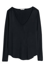 V-neck jersey top - Black - Ladies | H&M GB 2