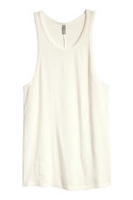 Top with a burnout pattern - White - Men | H&M CN 2