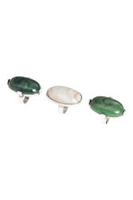 3-pack rings - Green/White - Ladies | H&M CN 1