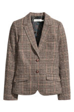 Checked jacket in a wool blend - Brown/Checked - Ladies | H&M GB 2