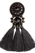 Earrings with tassels - Black - Ladies | H&M 2