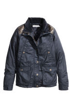 Coated jacket - Dark blue - Ladies | H&M GB 2