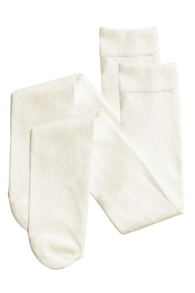 2-pack tights - Natural white - Kids | H&M 1