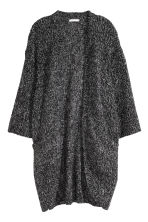 Chunky-knit cardigan - Black marl - Ladies | H&M GB 2