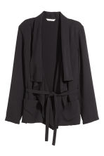 Draped jacket - Black - Ladies | H&M CN 2