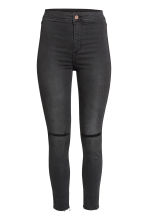 Skinny High Ankle Ripped Jeans - Black - Ladies | H&M GB 2