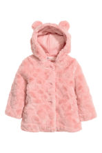 Faux fur coat - Light pink - Kids | H&M CN 2